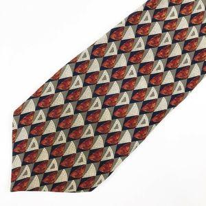 VALENTINO Silk Tie Geometric Necktie